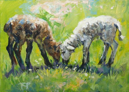 """""""Unmatched Pair"""" original fine art by Robin Peterson"""