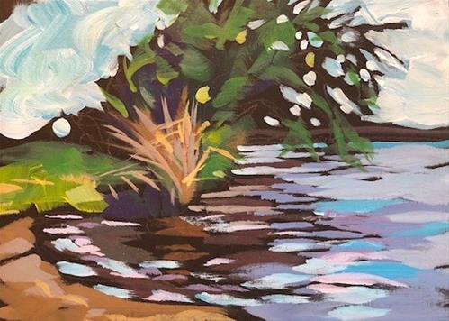 """Nokomis Small Beach"" original fine art by Kat Corrigan"