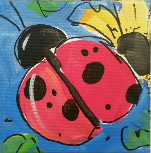 """Chunky Ladybug"" original fine art by Terri Einer"