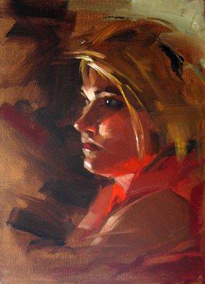 """Round Rock Artist --- Sold"" original fine art by Qiang Huang"