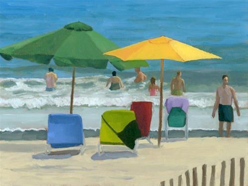 """""""Everybody In"""" original fine art by Nancy Herman"""
