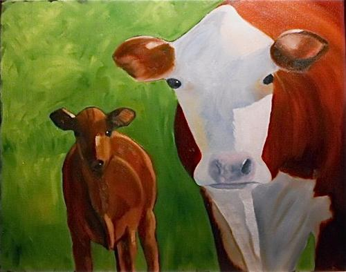"""""""White Face"""" original fine art by Claire Henning"""