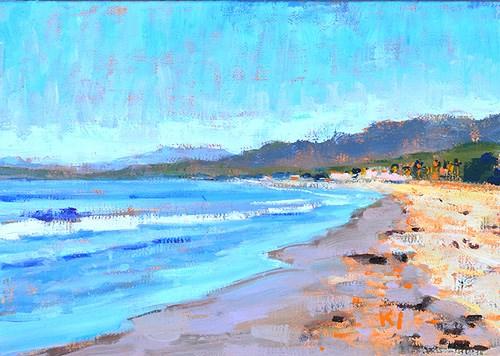 """Carpinteria Beach Painting Santa Barbara"" original fine art by Kevin Inman"