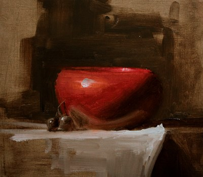 """Red Bowl - study"" original fine art by Neil Carroll"