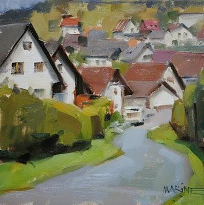 """""""Im Schluchsee"""" original fine art by Carol Marine"""