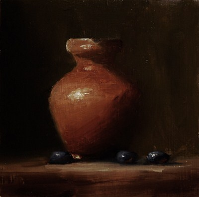 """Pitcher - study"" original fine art by Neil Carroll"