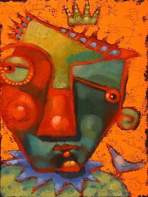 """""""Bird Whisperer"""" original fine art by Brenda York"""