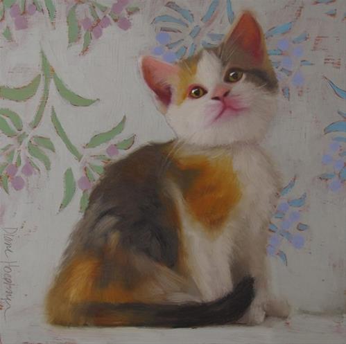"""""""Calico Kitten"""" original fine art by Diane Hoeptner"""