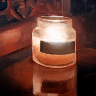 """Midnight Candle"" original fine art by Michael William"