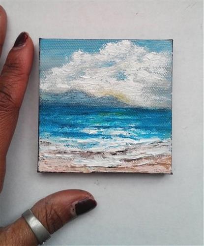 """Beach"" original fine art by Camille Morgan"