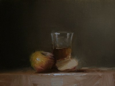 """""""Whiskey with Apples"""" original fine art by Neil Carroll"""
