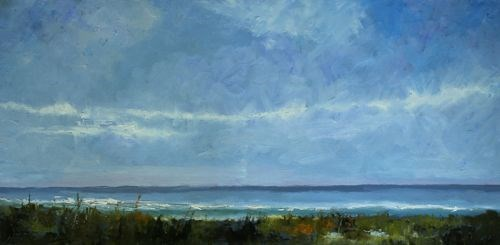 """Atlantic Beach, Seascape Paintings by Amy Whitehouse"" original fine art by Amy Whitehouse"