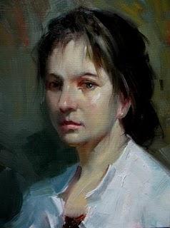 """""""Girl"""" original fine art by Fongwei Liu"""