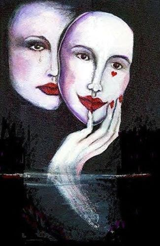 """""""Two faces of love"""" original fine art by Barbara Lemley"""