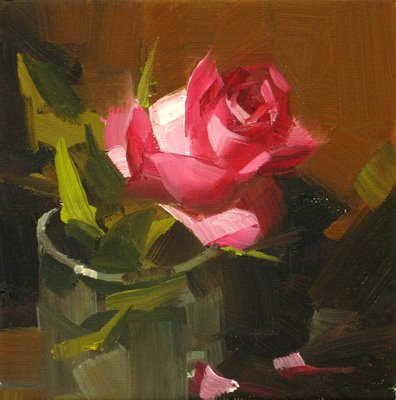 """""""Rose Solo 2 --- Sold"""" original fine art by Qiang Huang"""