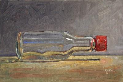 """Soy Sauce Bottle"" original fine art by Raymond Logan"