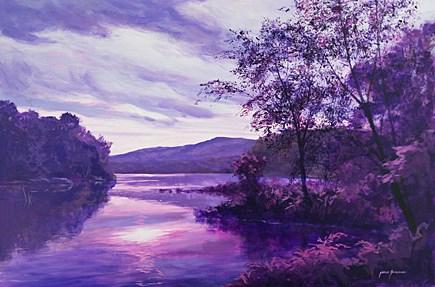 """Violet Reflections"" original fine art by Jamie Williams Grossman"