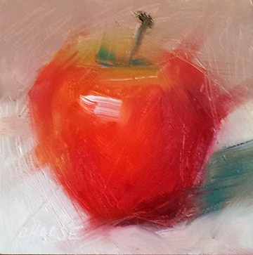 """Impressions of an Apple"" original fine art by Cindy Haase"