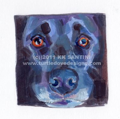 """""""Squared, A Painted Sketch"""" original fine art by Kimberly Santini"""