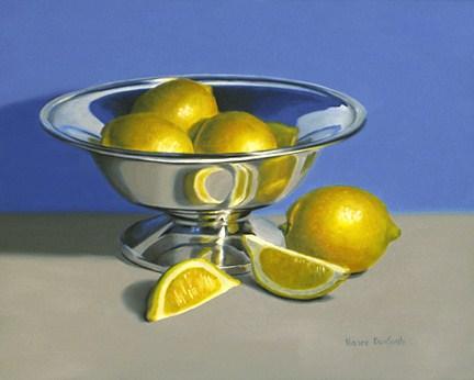 """Silver Bowl With Lemons"" original fine art by Nance Danforth"