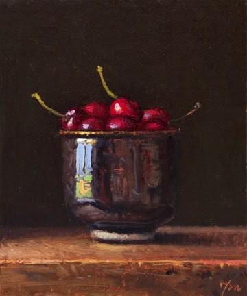 """Bowl of Cherries  (+ Sedona painters)"" original fine art by Abbey Ryan"
