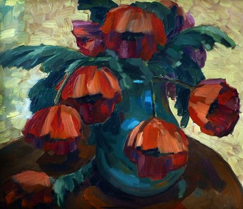 """poppies"" original fine art by Jurij Frey"