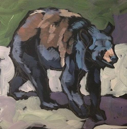 """Black Bear Stroll"" original fine art by Kat Corrigan"