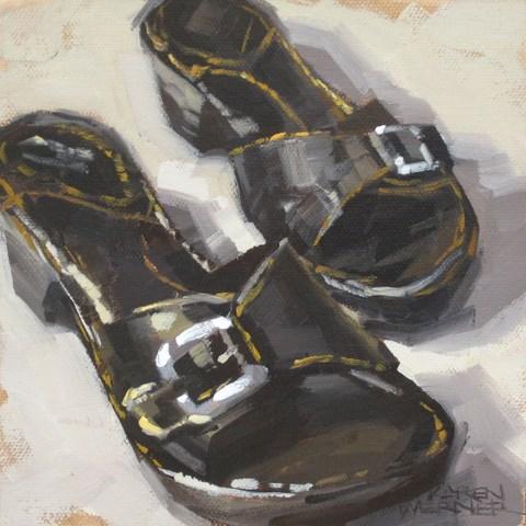 """""""Favorite Shoes"""" original fine art by Karen Werner"""