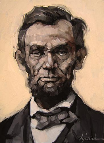 """Abraham Lincoln"" original fine art by Karin Jurick"