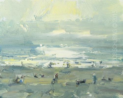 """""""Seascape Beach – Evening Begins"""" original fine art by Roos Schuring"""
