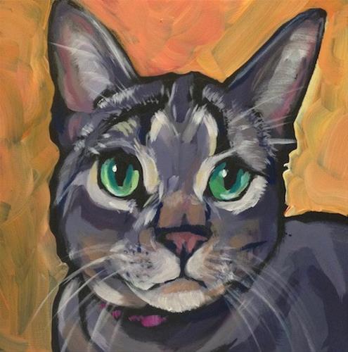 """Kayleigh, The Green Eyes"" original fine art by Kat Corrigan"
