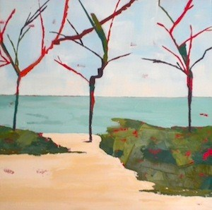 """Dancing Trees"" original fine art by Janet Bludau"