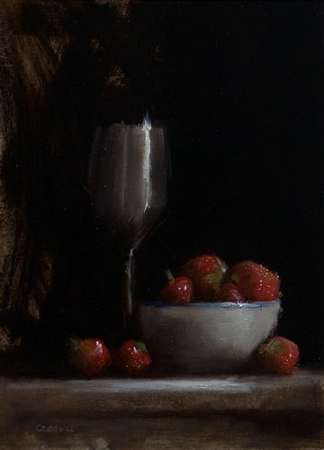 """""""Strawberries and Goblet"""" original fine art by Neil Carroll"""
