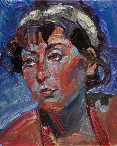 """Olivia"" original fine art by Raymond Logan"