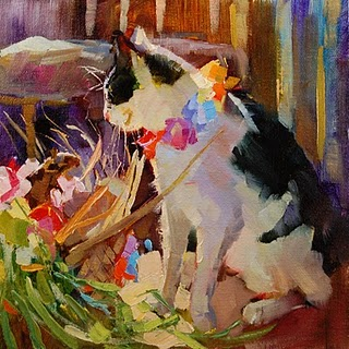 """""""Eddie Goes Native (And Takes Phyllis With Him)"""" original fine art by Dreama Tolle Perry"""