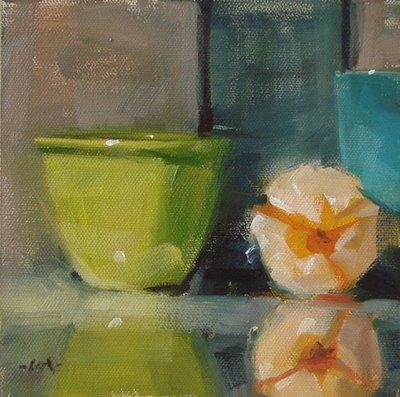 """Peeled & Waiting"" original fine art by Carol Marine"