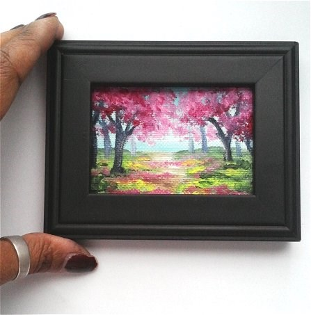 """Spring Trees"" original fine art by Camille Morgan"