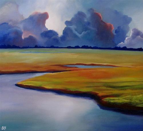 """Storm Rolling In"" original fine art by ~ces~ Christine E. S. Code"