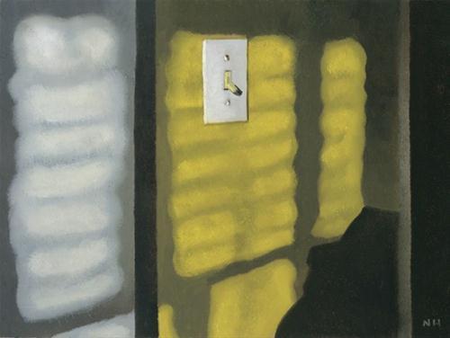 """LIGHT SWITCH"" original fine art by Nancy Herman"