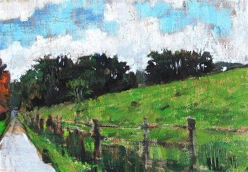 """Virginia Farm Painting"" original fine art by Kevin Inman"