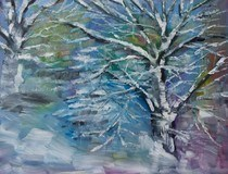 """When Hell Freezes Over"" original fine art by Maggie Flatley"