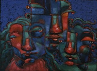 """Trio Magnifico"" original fine art by Brenda York"