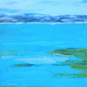 """Ocean Blues"" original fine art by Janet Bludau"