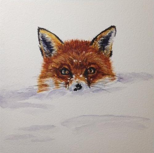 """Fox"" original fine art by Carrie Gould"
