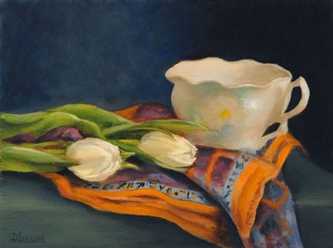 """Two for Tea #806"" original fine art by Dee Lessard"