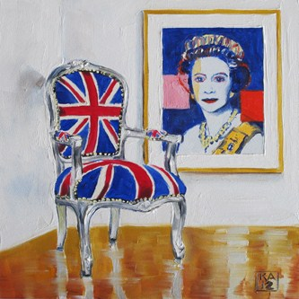 """silver queen"" original fine art by Kimberly Applegate"