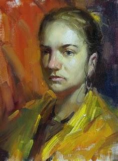 """Gypsy girl"" original fine art by Fongwei Liu"