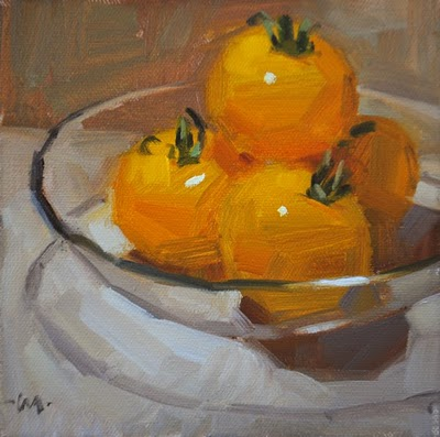 """Golden Orbs"" original fine art by Carol Marine"