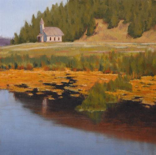 """The Old Church"" original fine art by Susan Matteson"