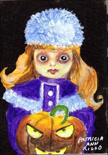 """""""Haunted Child"""" original fine art by Patricia Ann Rizzo"""
